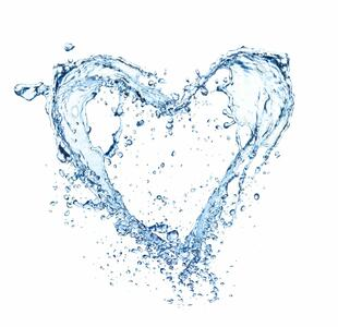 Heart from water